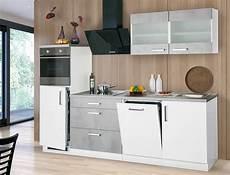 Küche Komplett Mit E Geräten - k 252 chenblock 270 cm mit e ger 228 ten komplett betonoptik wei 223