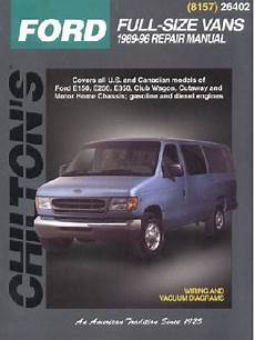 car manuals free online 1989 ford e series auto manual 1989 1996 ford econoline vans e series chilton s total car care manual
