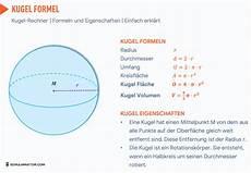 kugel formel berechnen kugel volumen kugel oberfl 228 che