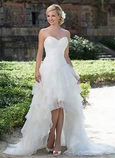 robe de mariage backless high low wedding dresses
