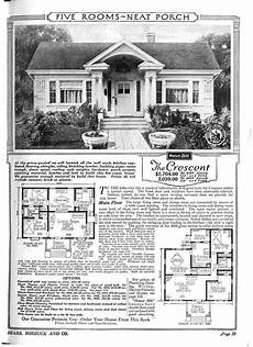 sears roebuck house plans 1921 sears kit home quot the crescent quot a five room house