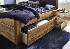 Holzbetten Mit Schubladen - massivholzbett mit 6 schubladen 180x200 54 cm eiche ge 246 lt