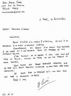 Lettre De Motivation Manuscrite 171 Le De M Carr 233