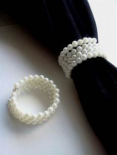 12 pearl white napkin rings bridal shower wedding party supplies table setting ebay