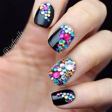 colourful gems nail art by saf nails nailpolis museum