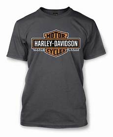 harley davidson t shirts harley davidson s elongated orange bar shield