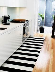 Kitchen Runner Rugs Black by Black And White Kitchen Runner Rug Kitcheniac