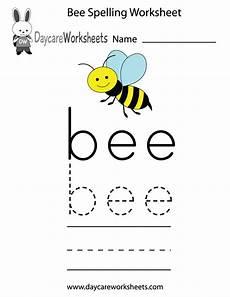 spelling worksheets for kindergarten free 22638 free preschool bee spelling worksheet