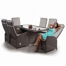 Polyrattan Grau Sitzgruppe - luxus poly rattan garnitur badalona premium alu