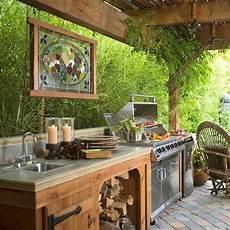 Outdoor Küche Holz - offene k 252 che ideen terrassen 252 berdachung holz garten in