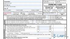 form mo 1120s missouri s corporation income franchise tax return youtube