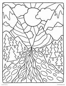 nature coloring pages free 16341 nature drawing at getdrawings free