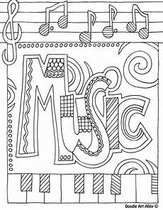 coloring page musikunterricht deckblatt schule