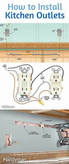 how to install electrical outlets in the kitchen construction information installing