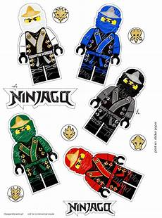 ninjas in elemental robes printable sticker set clipart