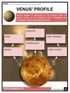 layers of the venus worksheet venus facts worksheets planet profile discovery of