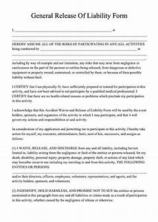 free release of liability form template download liability form pdf