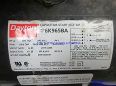 dayton 6k965ba capacitor start electric motor 1 2 hp 1725 rpm 115 230v cw ccw