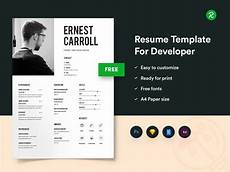 free resume template for developers with portfolio by getresume co dribbble