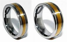 mens tungsten wedding 18k gold plated band ring 6mm 8mm size 8 to 14 5 ebay