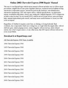 car manuals free online 1998 chevrolet express 3500 electronic valve timing 2002 chevrolet express 3500 repair manual online by parker issuu