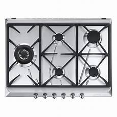 plaque de cuisson gaz 5 foyers inox smeg srv575gh5