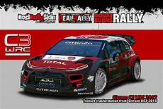 citroen c3 wrc17 with trasformation texture from ds3 wrc