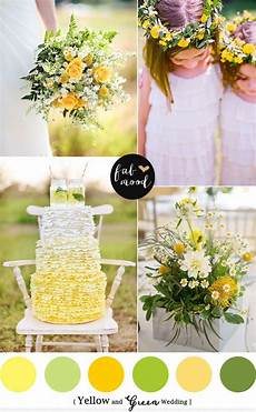 yellow green wedding colors reference wedding