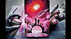 love bridge spray paint art by skech glow in the dark