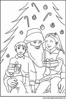 malvorlagen vom weihnachtsmann zum gratis ausdrucken und