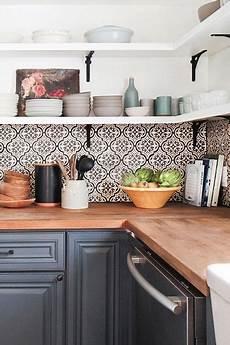 Ideen Fliesenspiegel Küche - fliesen deko ideen moderne einbauk 252 che schwarz wei 223