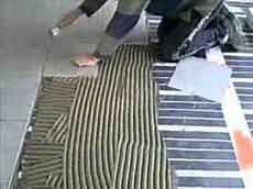 plancher chauffant carbone et carrelage