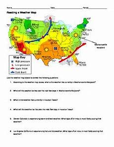 weather map worksheets for high school 14572 ngss ms hs weather and climate reading a weather map worksheet weather climate teaching