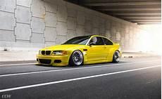 yellow bmw e46 m3 widebody shines on ccw classics