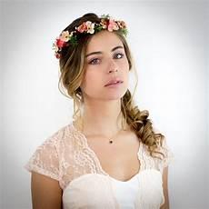 accessoire fleur cheveux mariage couronne de fleurs corail p 234 che et ivoire no 233 lie