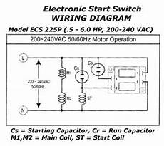 electronic motor start switch ecs225p