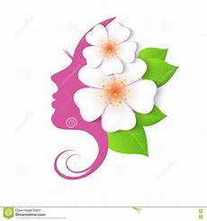 the profile of with flowers stock vector illustration of beautiful design 72613287