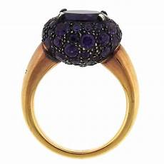 pomellato tabou pomellato tabou gold burnished silver amethyst ring for