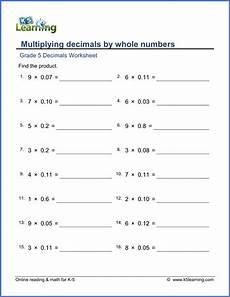 place value of whole numbers worksheets grade 5 5385 grade 5 decimals worksheet multiplying 2 decimal digits by whole numbers module 1 place value