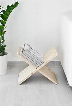 zeitungsständer selber bauen diy wooden x shaped magazine holder shake