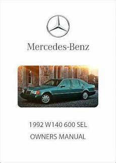 free car manuals to download 1992 mercedes benz 300sl engine control mercedes benz w140 600 sel 1992 owners manual free car manuals direct