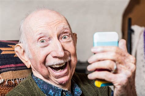 Old Man Selfie