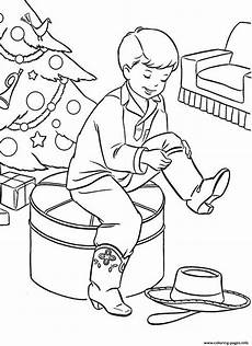 Malvorlagen Weihnachten Stiefel Boots For Present0357 Coloring Pages Printable