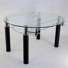 table ronde en verre table en verre ronde 224 rallonge extensible nero achat