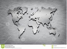metal world map on metal stock illustration illustration