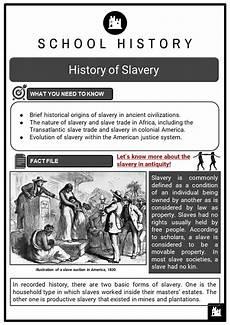 armada worksheets ks3 18345 history of slavery facts worksheets summary evolution history end