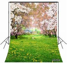 5x7ft Grass Flower Colorful Nature Vinyl by Nature Pink Grass Flowers 5x7ft Backdrop