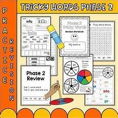 phonics phase 2 tricky words practice worksheets uk teaching resources