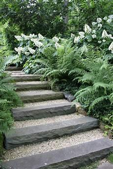 garten treppe sch 246 n kies und stein waldgarten