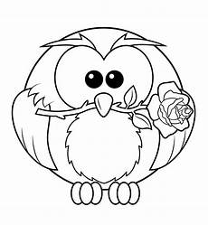 owl with coloring page free printable coloring